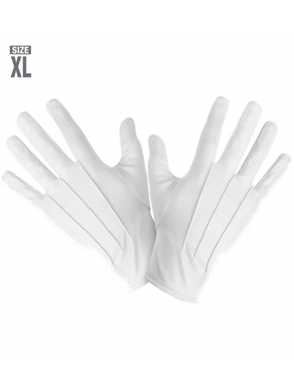 Gants blancs Mixte (taille XL)