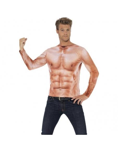 Tee-shirt manches longues Monsieur Muscle   Déguisement