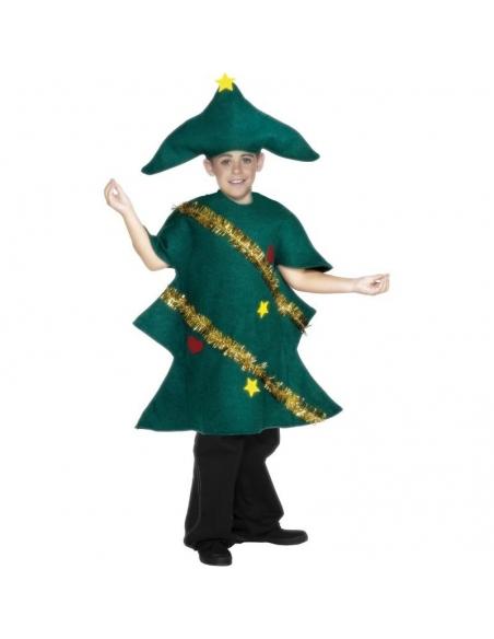 Déguisement fille sapin de Noël (robe et chapeau)